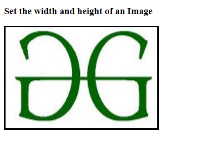 Height and width of an image