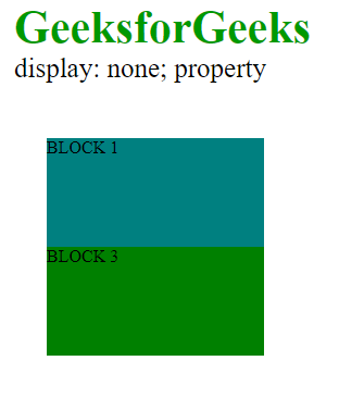 display none property